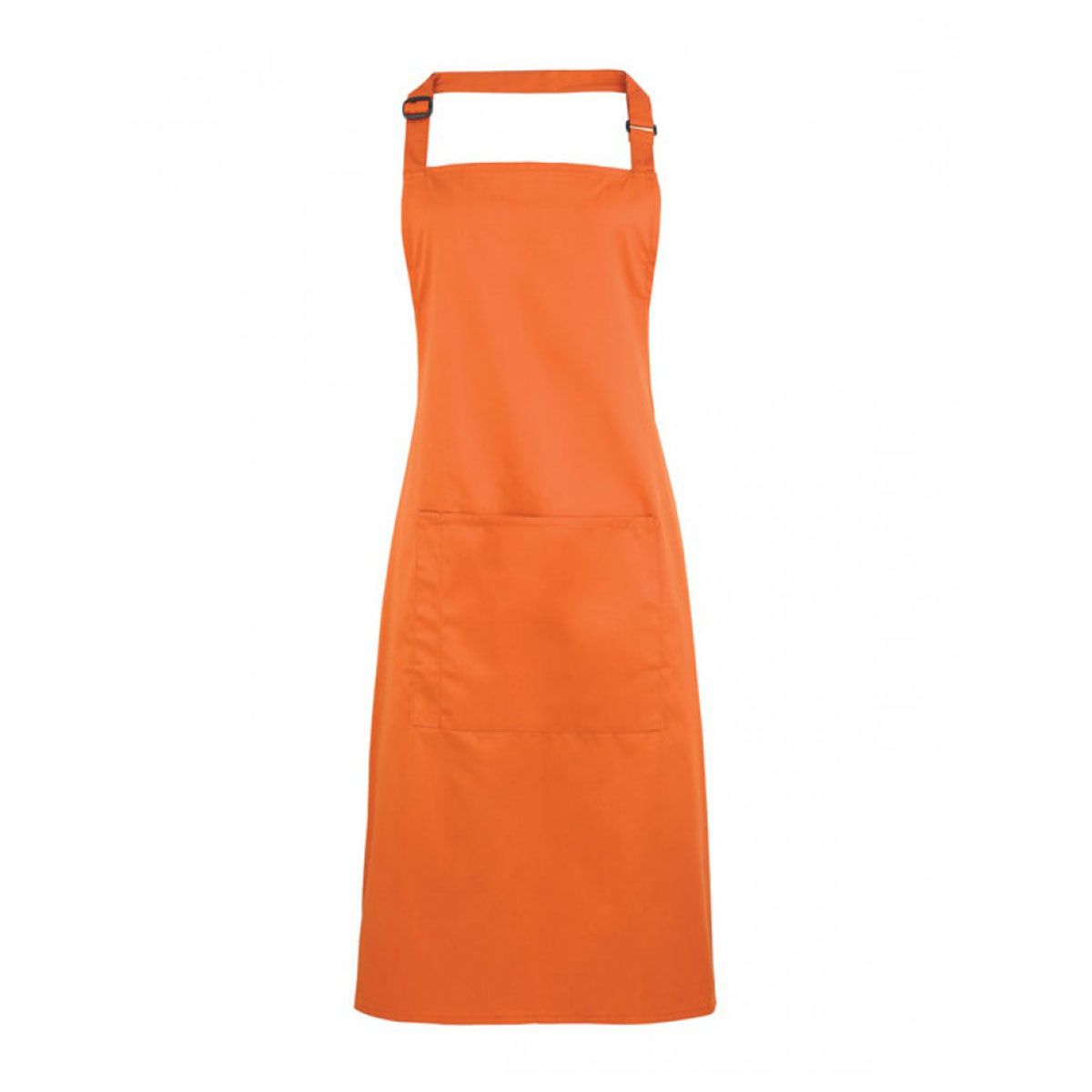 Colours Bib Apron with Pocket - pr154-terracotta