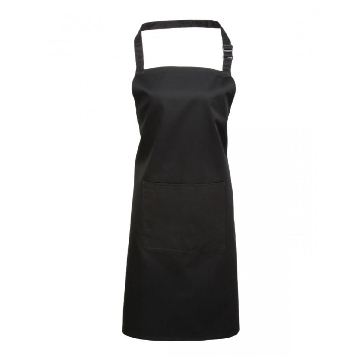 Colours Bib Apron with Pocket - pr154_black
