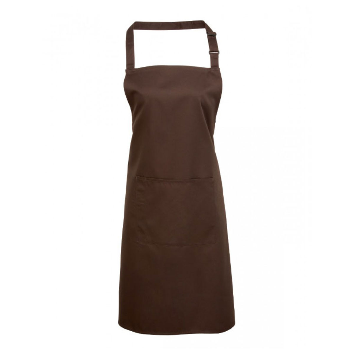 Colours Bib Apron with Pocket - pr154_brown