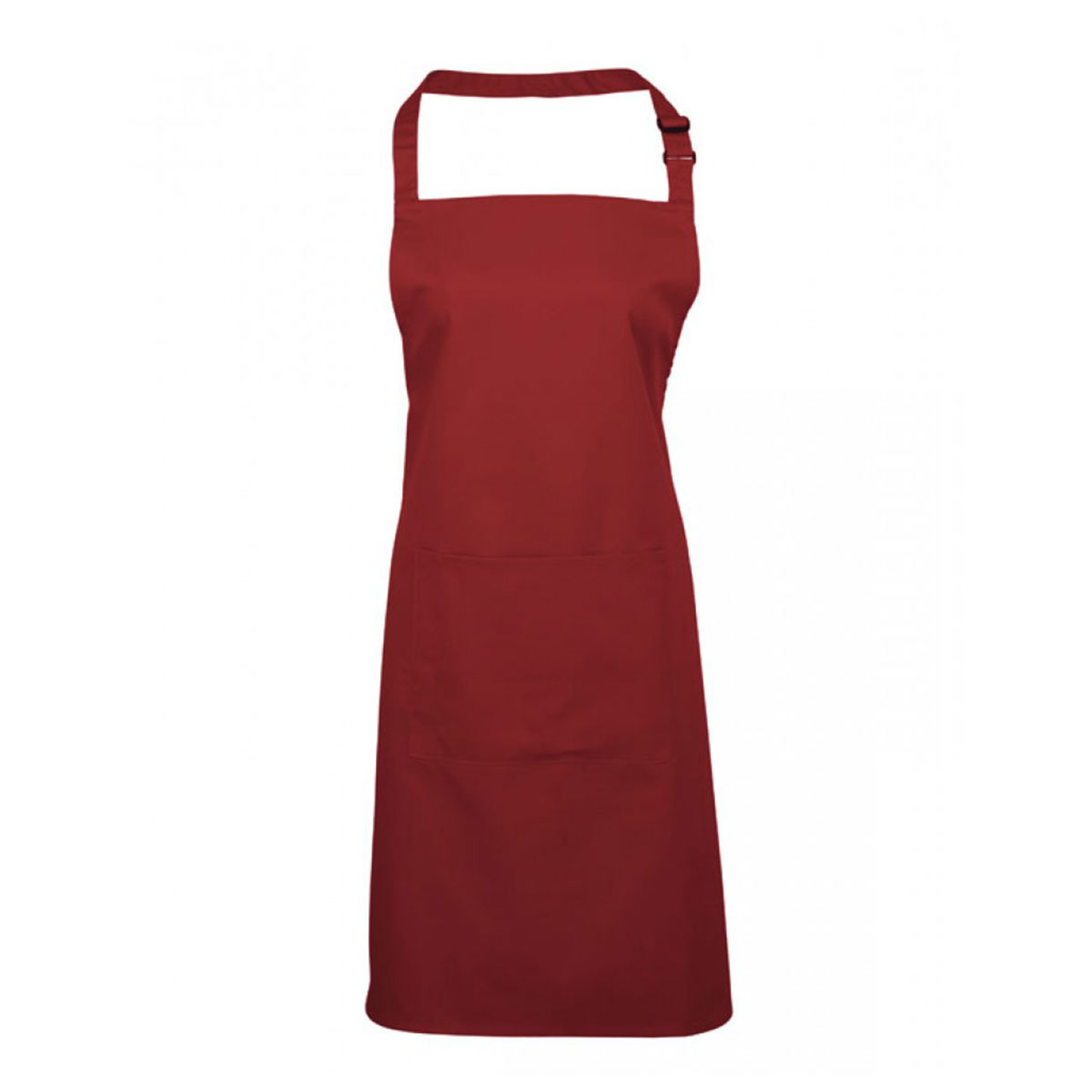Colours Bib Apron with Pocket - pr154_burgundy