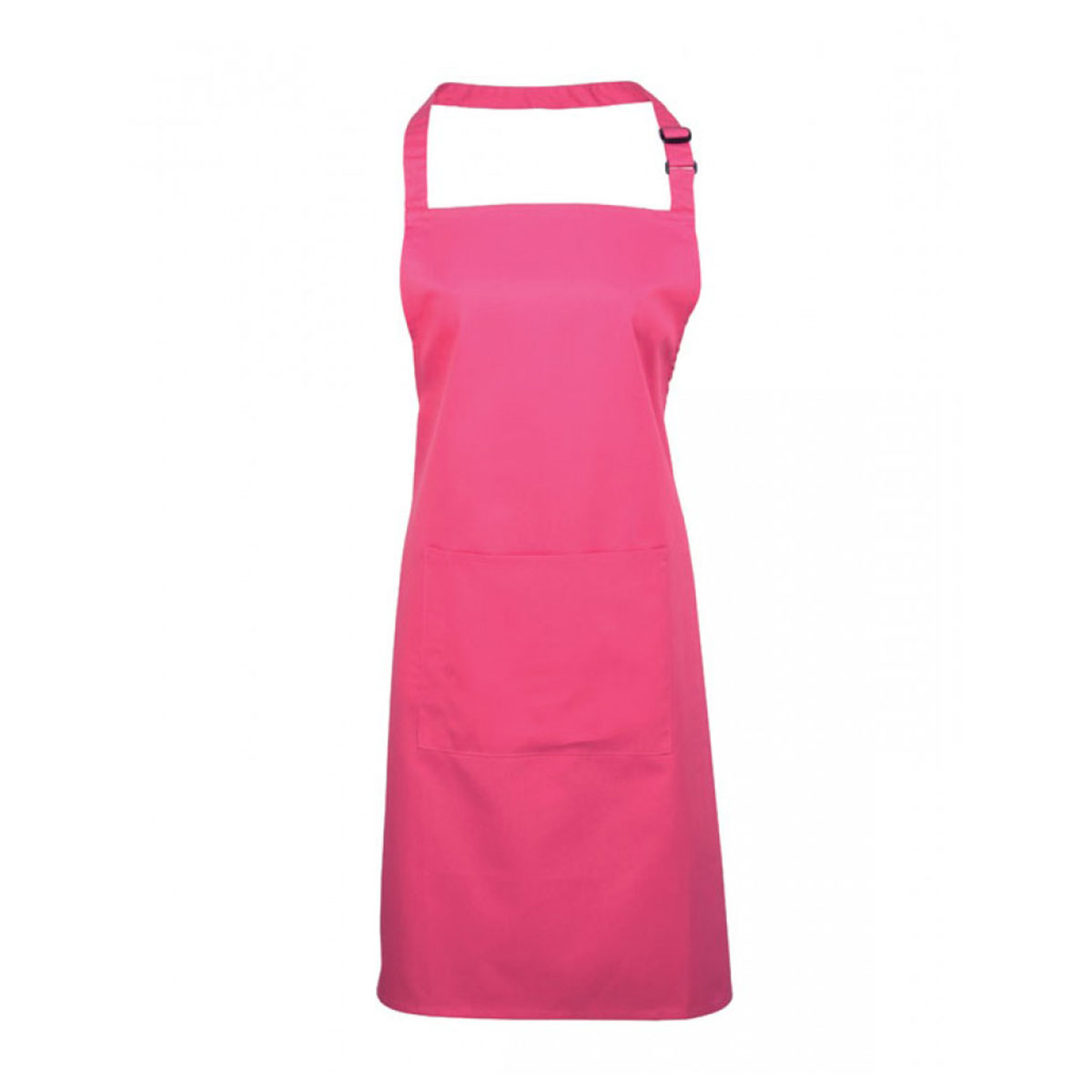Colours Bib Apron with Pocket - pr154_hot-pink