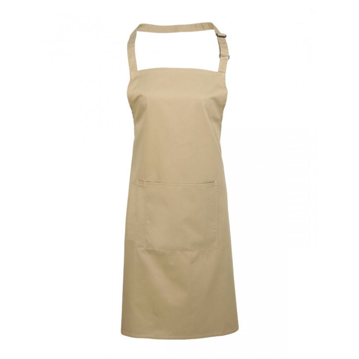 Colours Bib Apron with Pocket - pr154_khaki