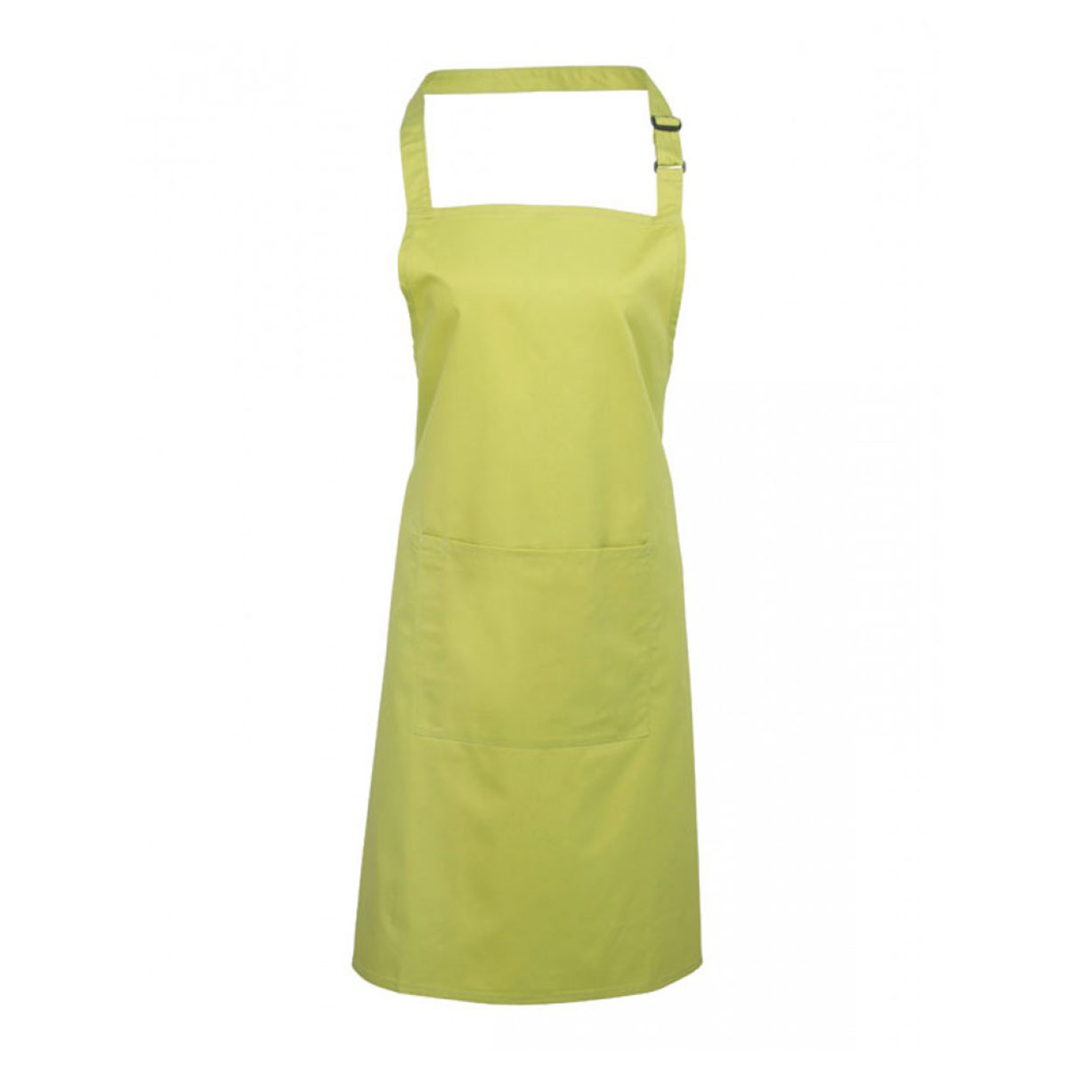 Colours Bib Apron with Pocket - pr154_lime