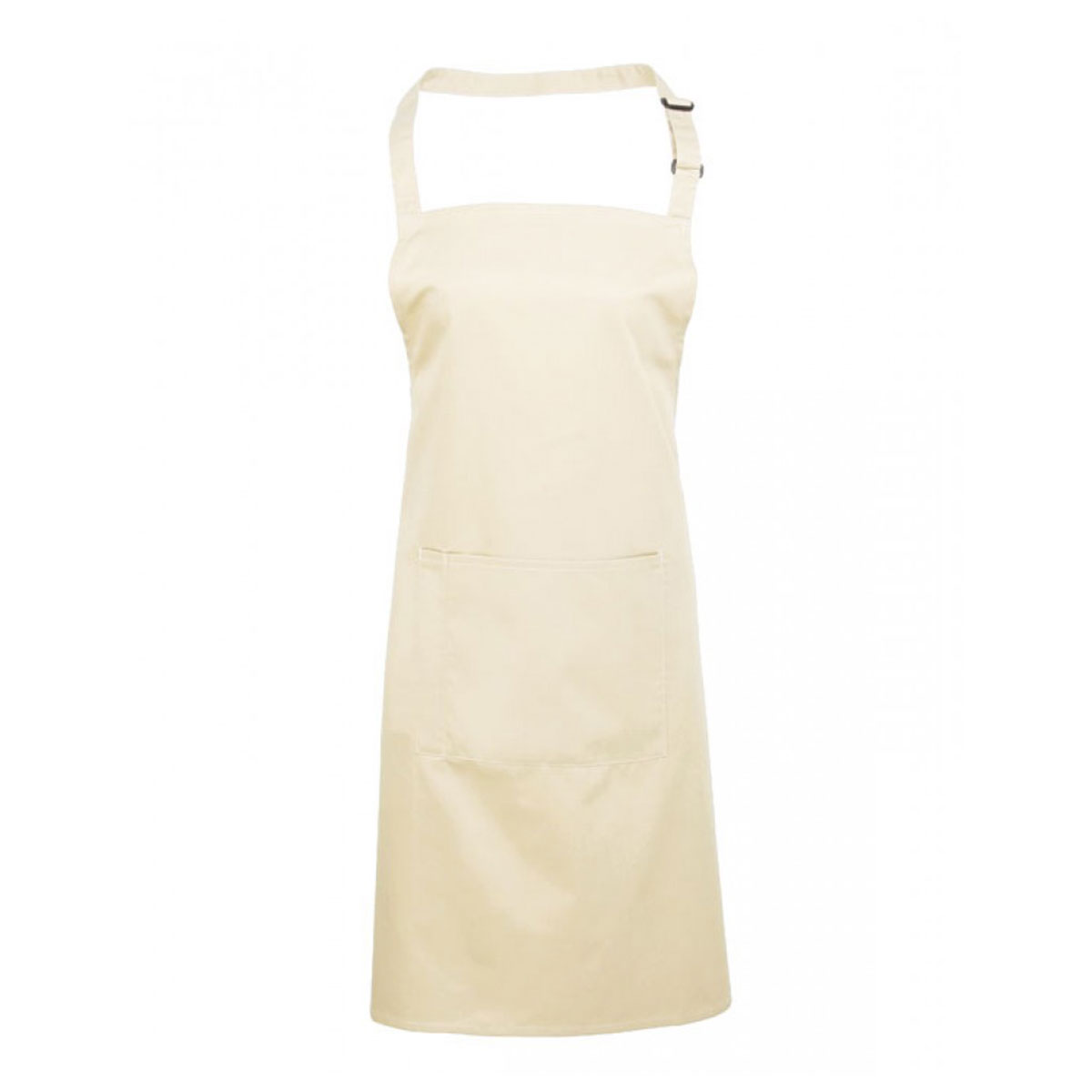 Colours Bib Apron with Pocket - pr154_natural