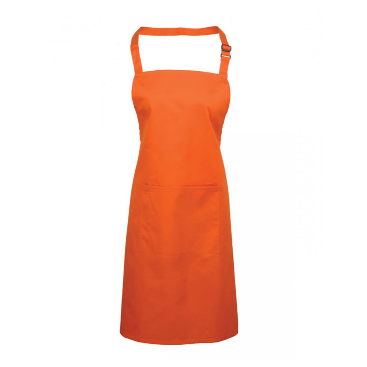 Colours Bib Apron with Pocket - pr154_orange