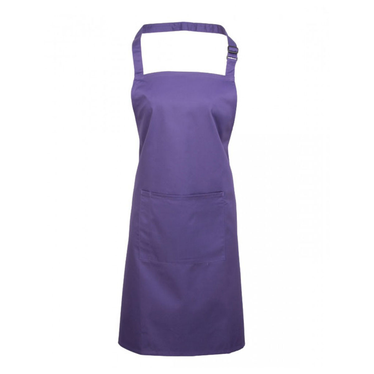 Colours Bib Apron with Pocket - pr154_purple