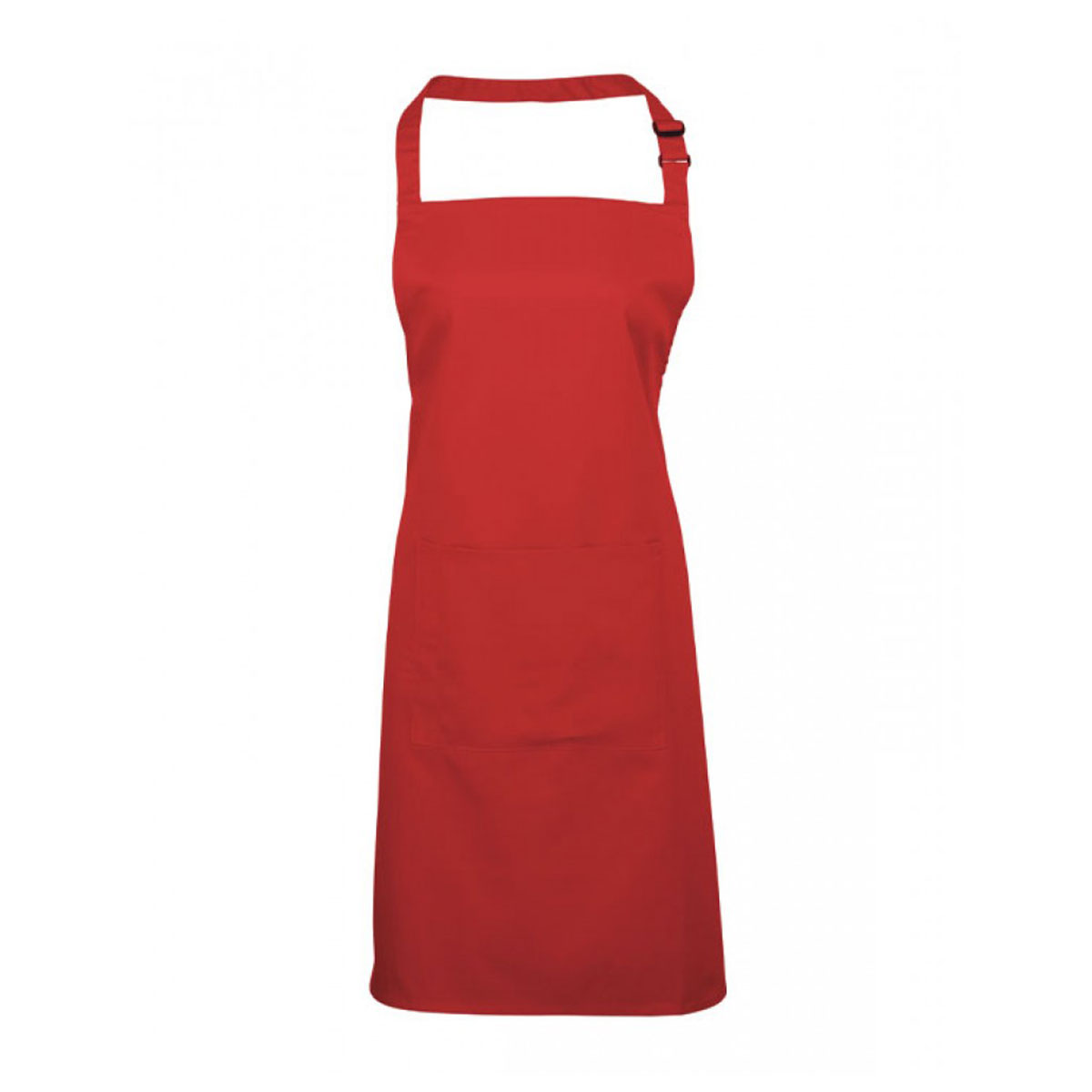 Colours Bib Apron with Pocket - pr154_red