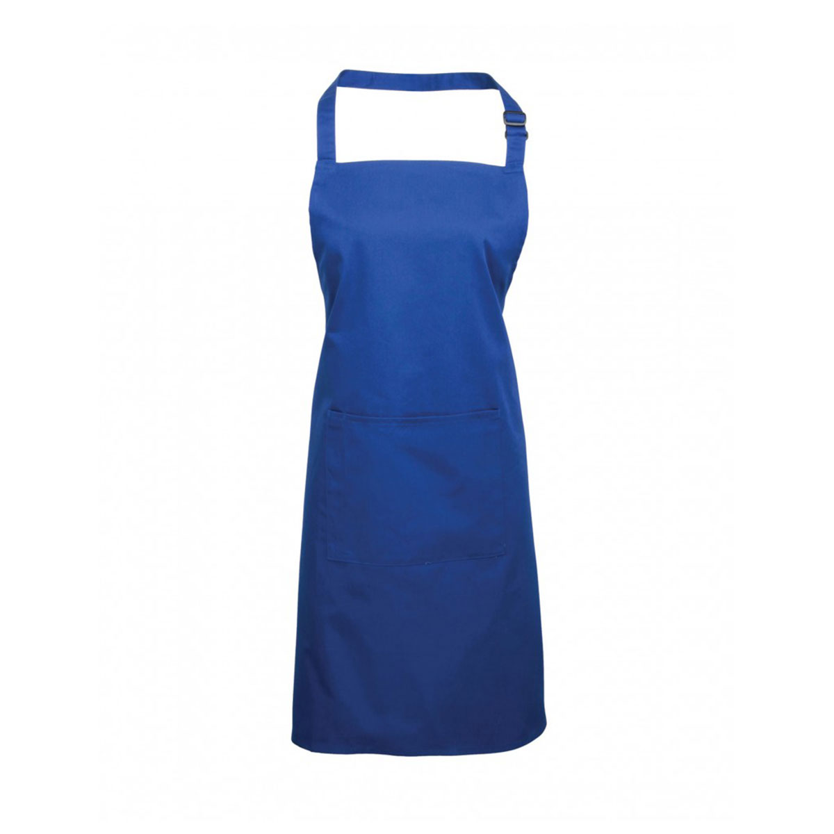 Colours Bib Apron with Pocket - pr154_royal_1