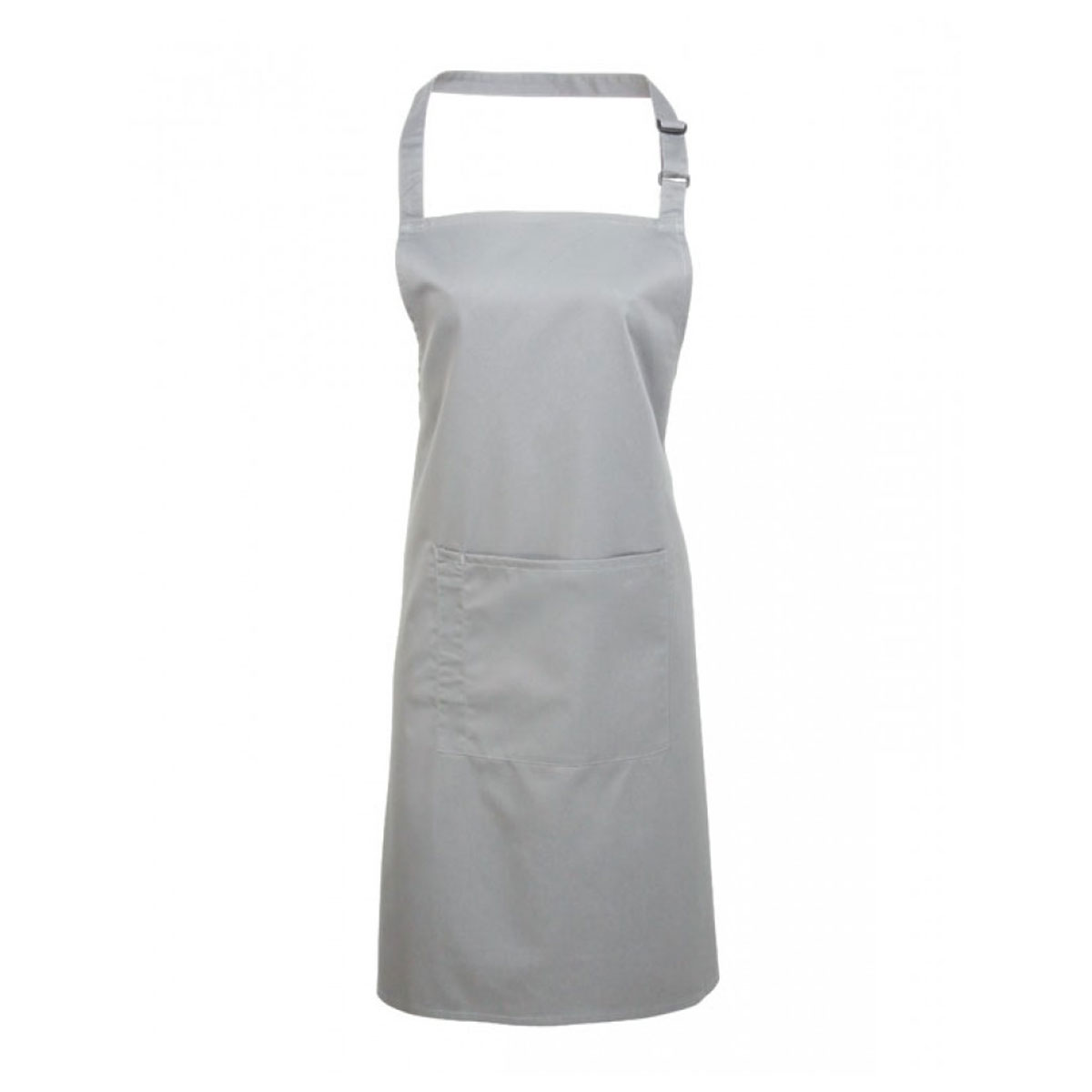 Colours Bib Apron with Pocket - pr154_silver
