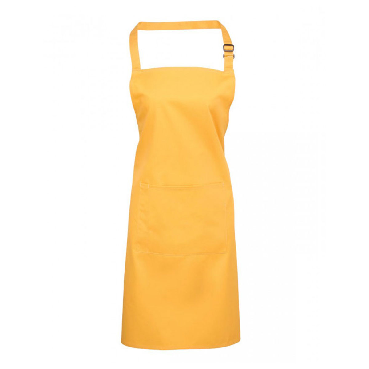 Colours Bib Apron with Pocket - pr154_sunflower
