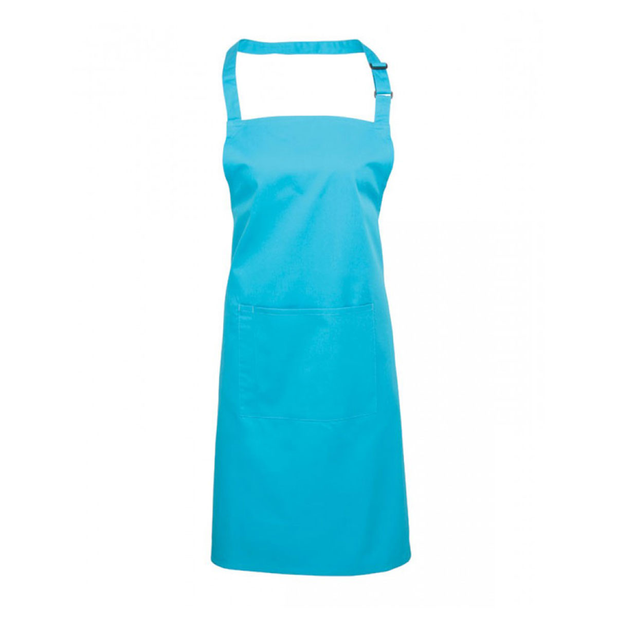 Colours Bib Apron with Pocket - pr154_turquoise