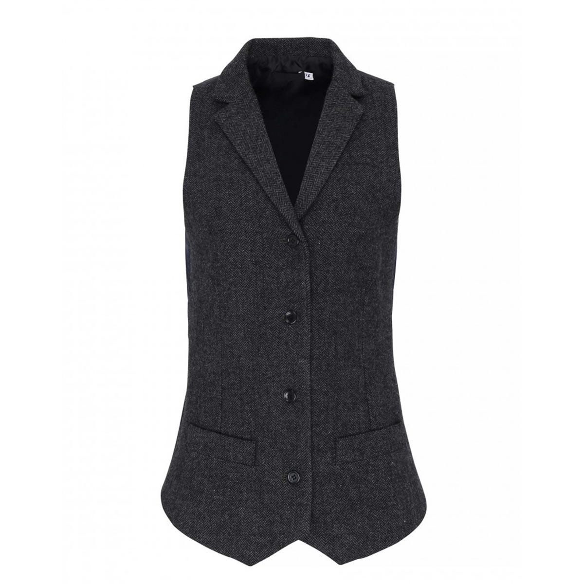 Ladies Lined Polyester Waistcoat - PR626_navy