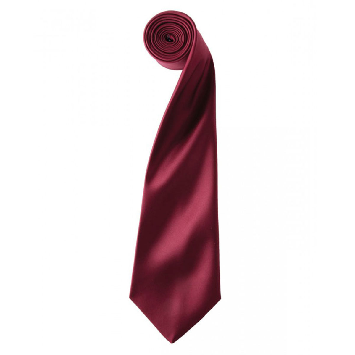 Colours Satin Tie - pr750-burgundy