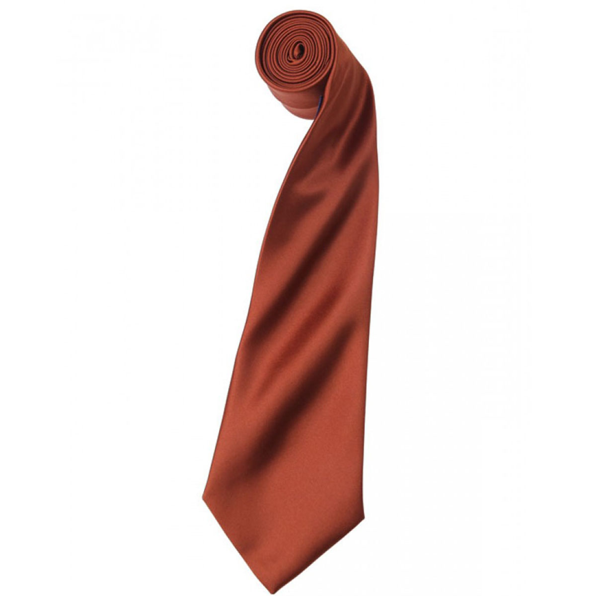 Colours Satin Tie - pr750-chestnut