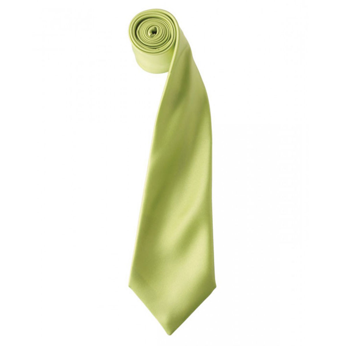 Colours Satin Tie - pr750-lime