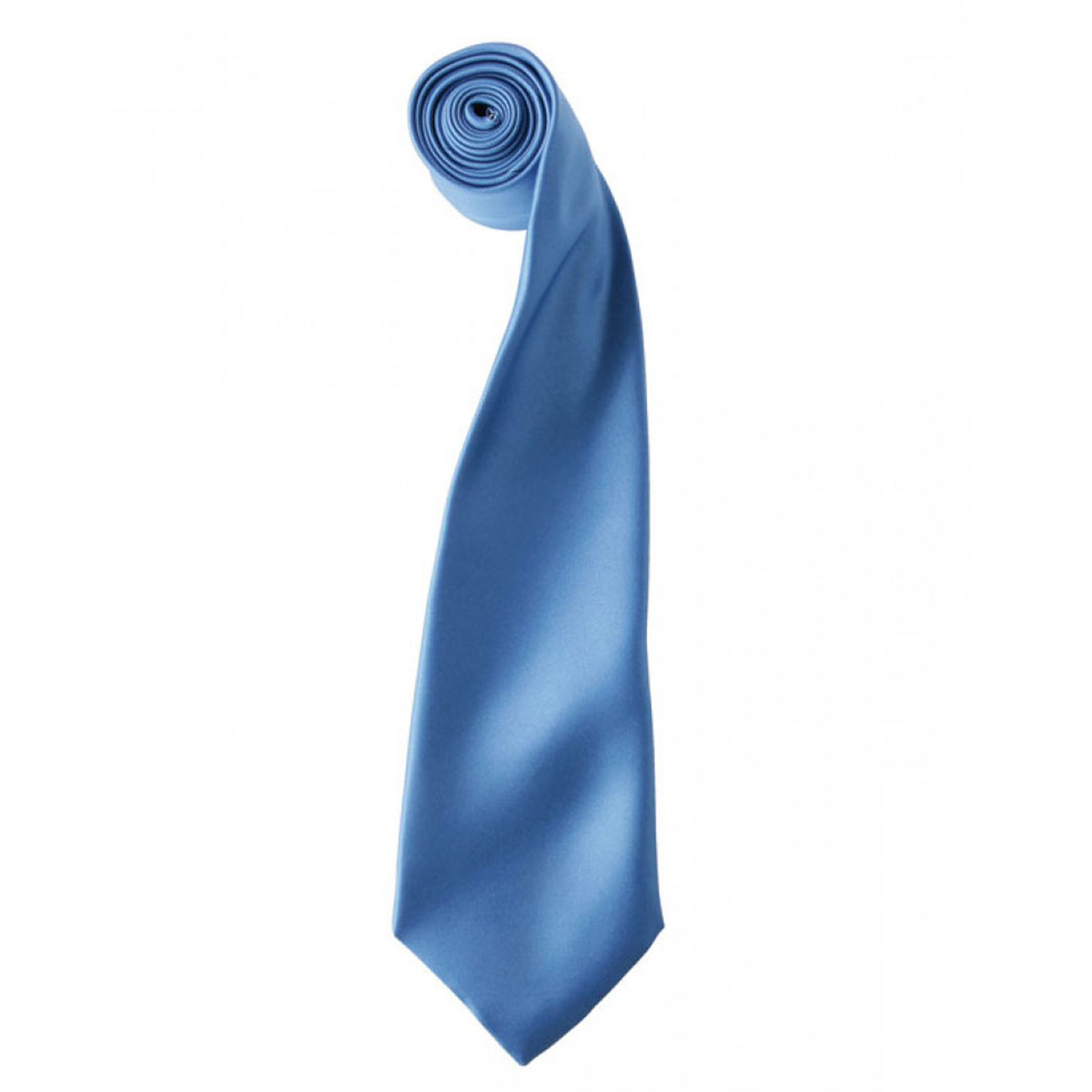 Colours Satin Tie - pr750-mid-blue