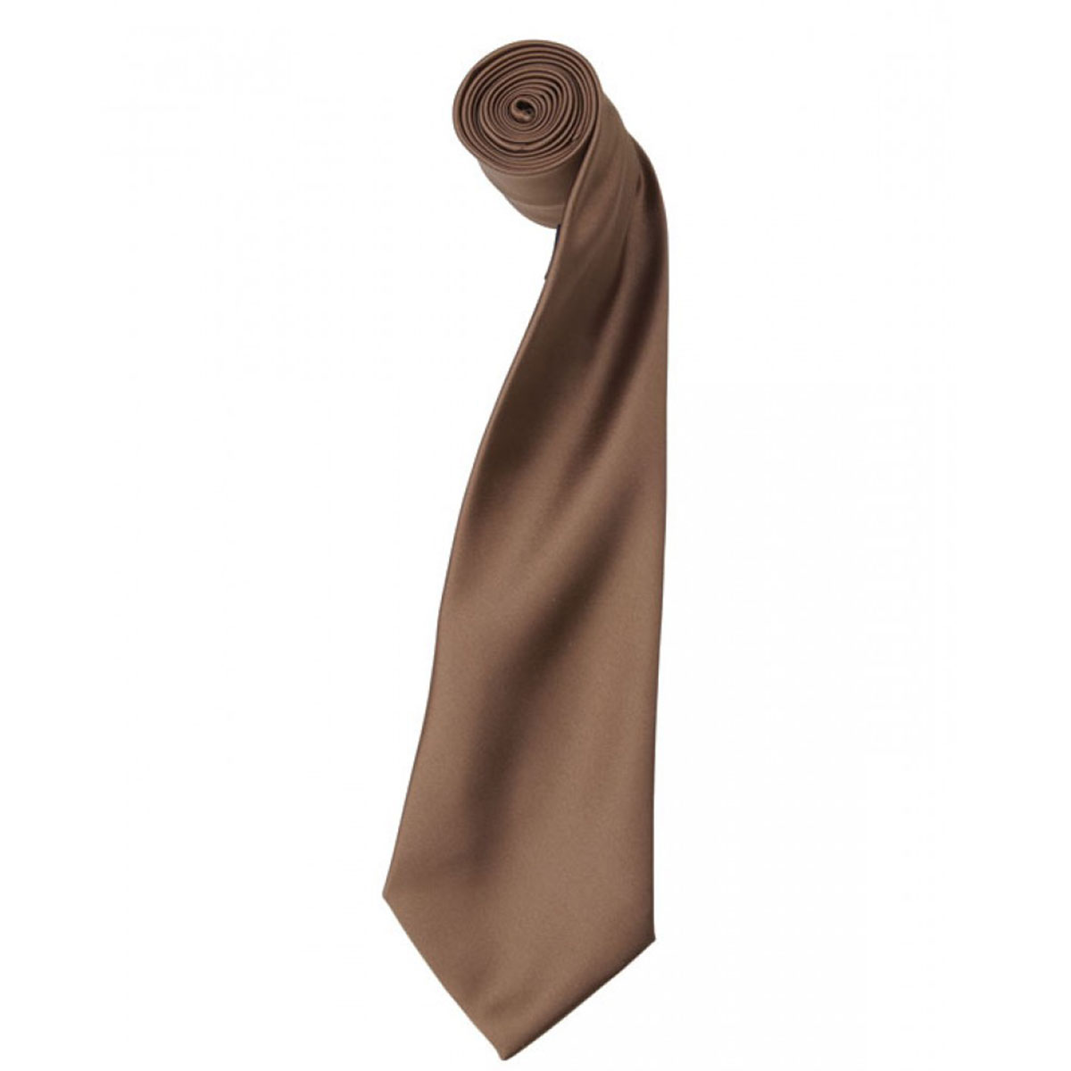 Colours Satin Tie - pr750-mocha