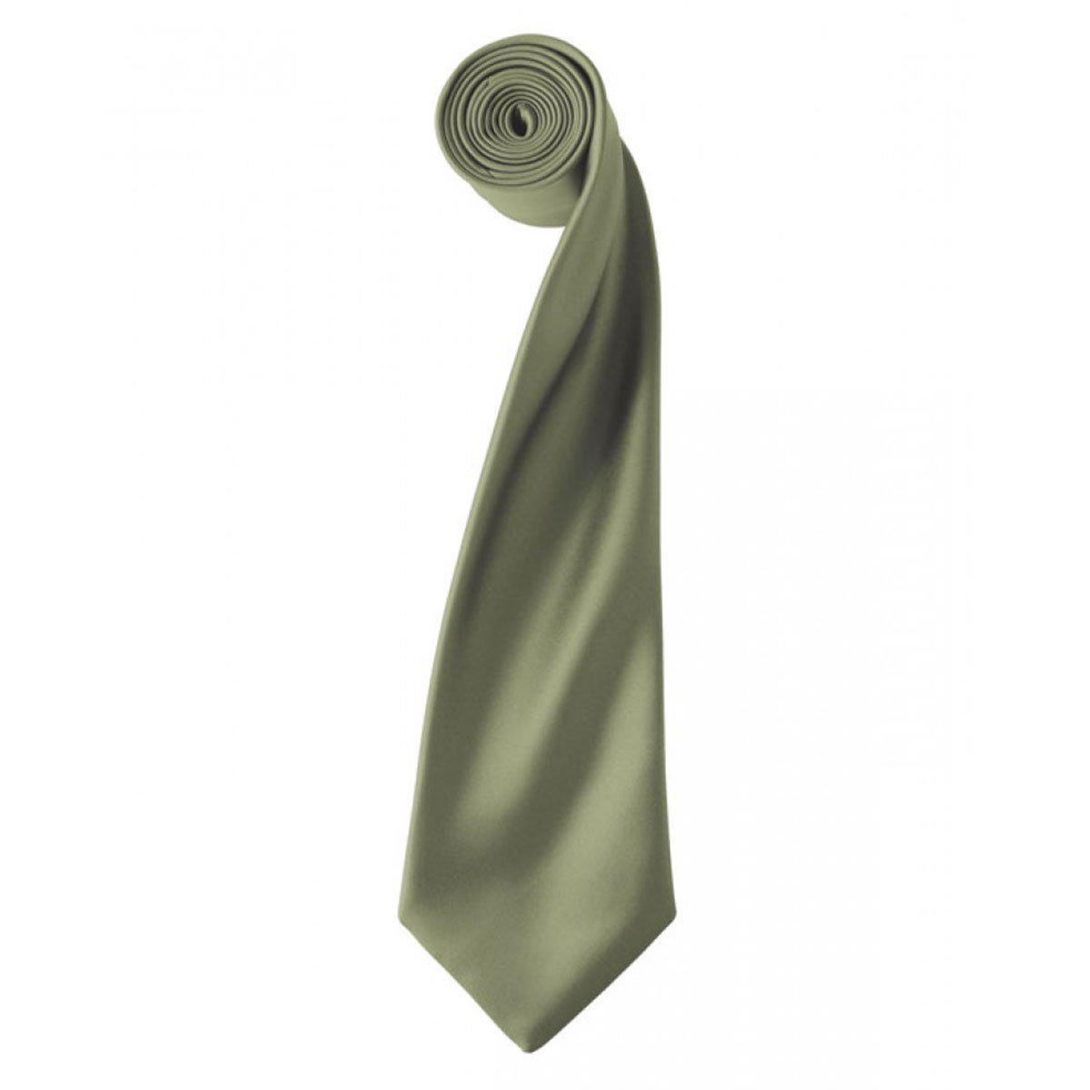 Colours Satin Tie - pr750-olive