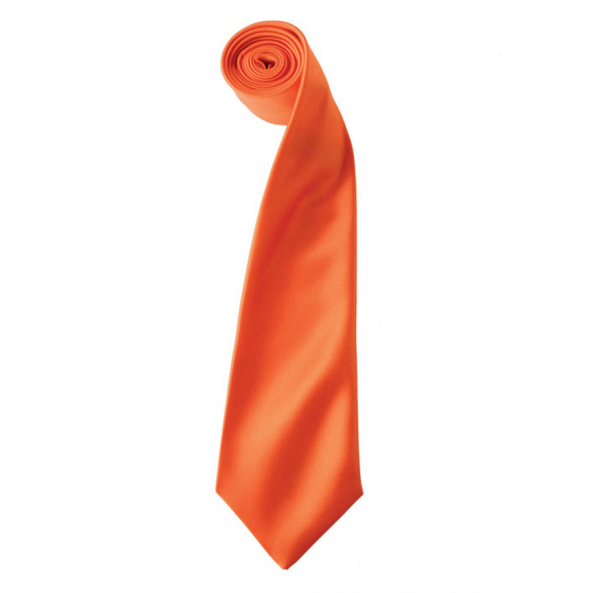 Colours Satin Tie - pr750-orange