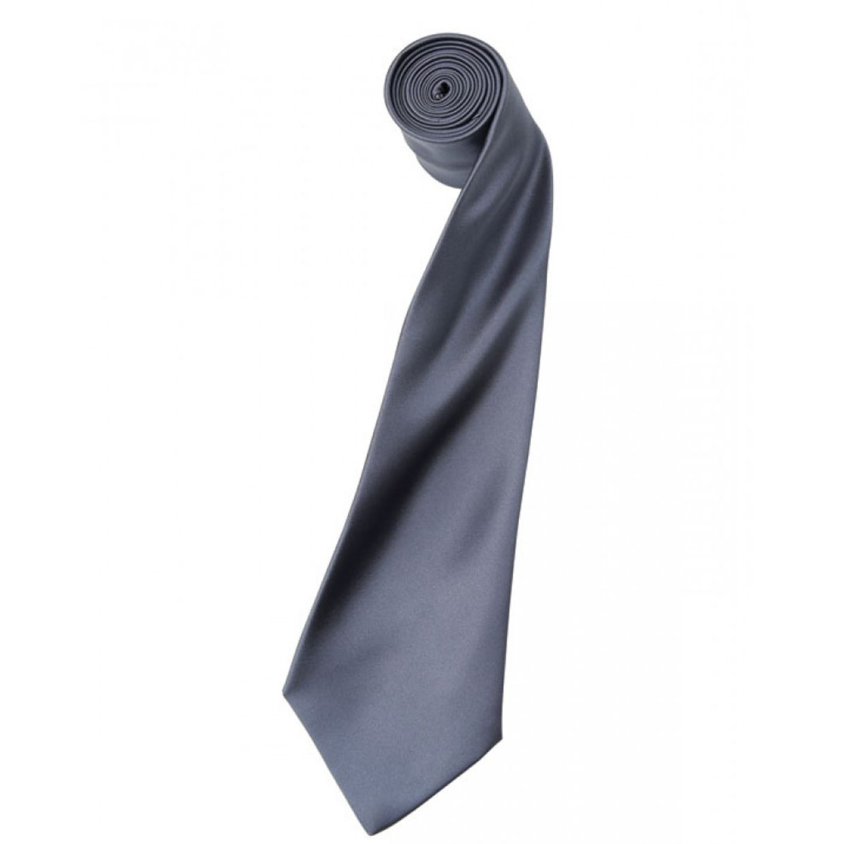 Colours Satin Tie - pr750-steel