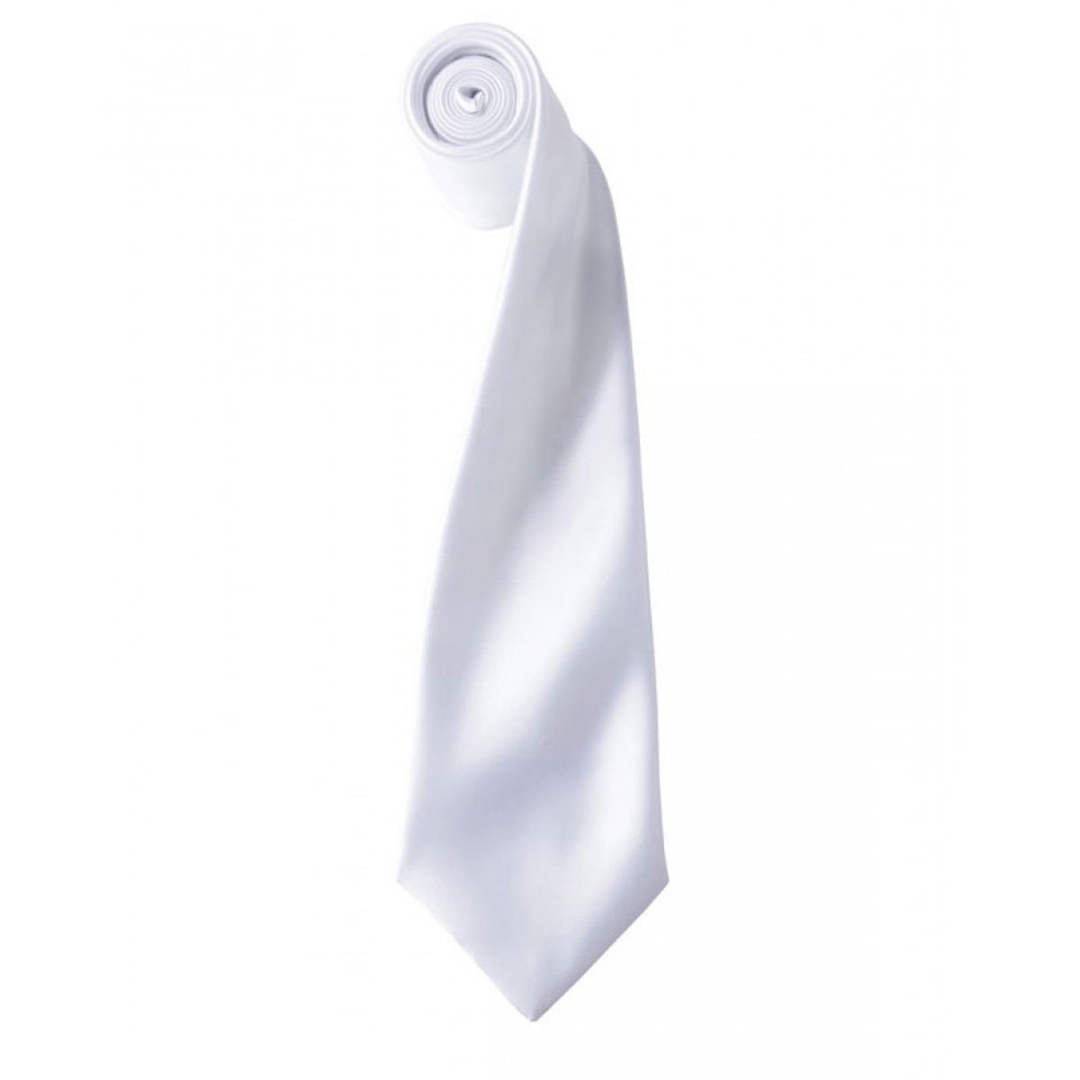 Colours Satin Tie - pr750-white