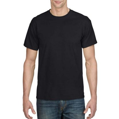 DryBlend Poly-Cotton T-Shirt - GD20 - 8000-Adult-T-Shirt-Black