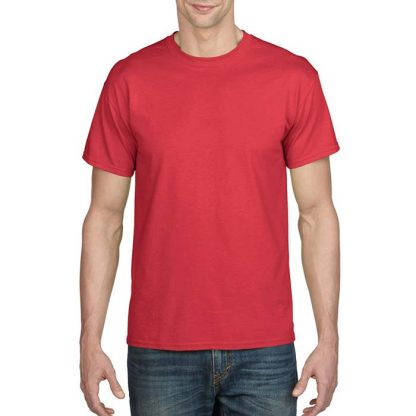 DryBlend Poly-Cotton T-Shirt - GD20 - 8000-Adult-T-Shirt-Red