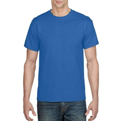 DryBlend Poly-Cotton T-Shirt - GD20 - 8000-Adult-T-Shirt-Royal
