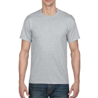 DryBlend Poly-Cotton T-Shirt - GD20 - 8000-Adult-T-Shirt-Sport-Grey