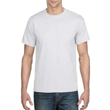 DryBlend Poly-Cotton T-Shirt - GD20 - 8000-Adult-T-Shirt-White