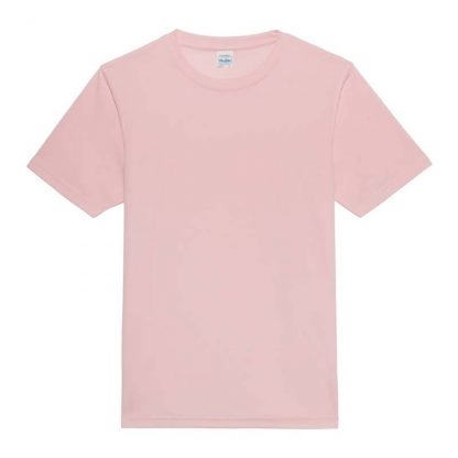 JUST COOL Polyester Cool T - JC001-BABY-PINK-(FLAT)