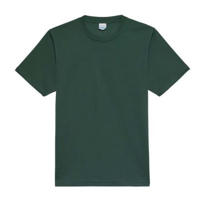 JUST COOL Polyester Cool T - JC001-BOTTLE-GREEN-(FLAT)