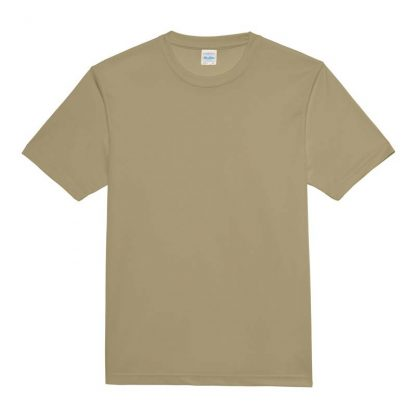 JUST COOL Polyester Cool T - JC001-DESERT-SAND-(FLAT)