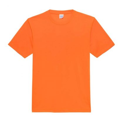 JUST COOL Polyester Cool T - JC001-ELECTRIC-ORANGE-(FLAT)