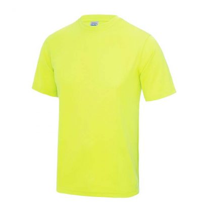 JUST COOL Polyester Cool T - JC001-ELECTRIC-YELLOW-(FRONT)