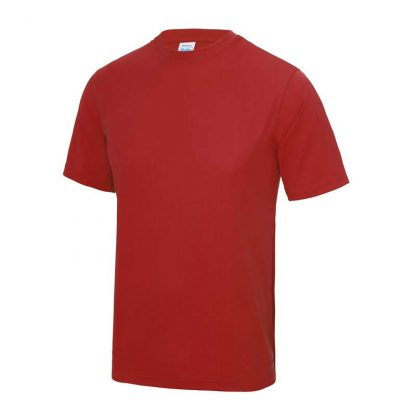 JUST COOL Polyester Cool T - JC001-FIRE-RED-(FRONT)