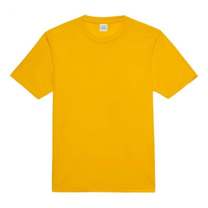 JUST COOL Polyester Cool T - JC001-GOLD-(FLAT)