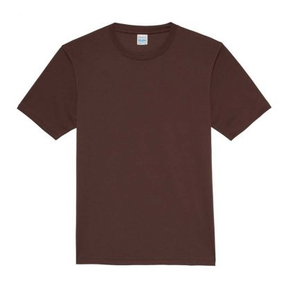 JUST COOL Polyester Cool T - JC001-HOT-CHOCOLATE-(FLAT)
