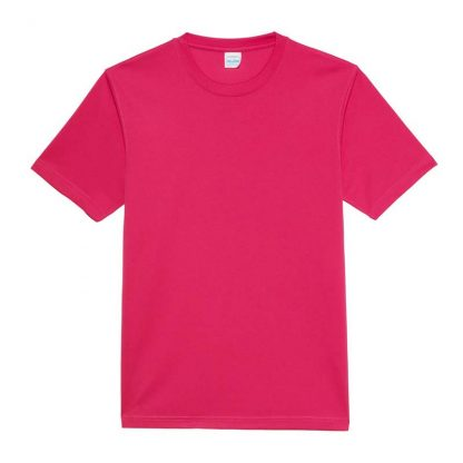 JUST COOL Polyester Cool T - JC001-HOT-PINK-(FLAT)