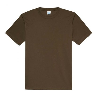 JUST COOL Polyester Cool T - JC001-OLIVE-GREEN-(FLAT)