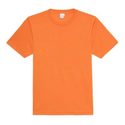 JUST COOL Polyester Cool T - JC001-ORANGE-CRUSH-(FLAT)