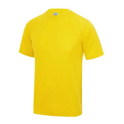 JUST COOL Polyester Cool T - JC001-SUN-YELLOW-(FRONT)