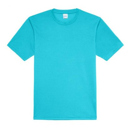 JUST COOL Polyester Cool T - JC001-TURQUOISE-BLUE-(FLAT)