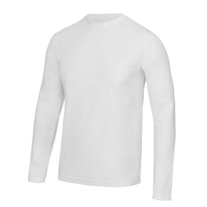 Long SLeeve Cool T-Shirt - JC002-ARCTIC-WHITE-(FRONT)