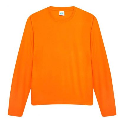 Long SLeeve Cool T-Shirt - JC002-ELECTRIC-ORANGE-(FLAT)
