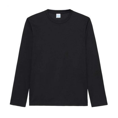 Long SLeeve Cool T-Shirt - JC002-JET-BLACK-(FLAT)