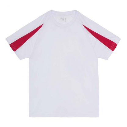 Contrast Cool T-Shirt - JC003-ARCTIC-WHITE_HOT-PINK-(FLAT)