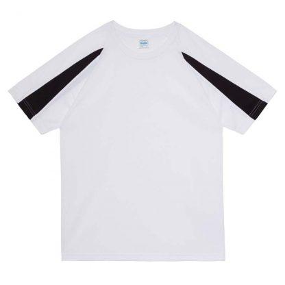 Contrast Cool T-Shirt - JC003-ARCTIC-WHITE_JET-BLACK-(FLAT)