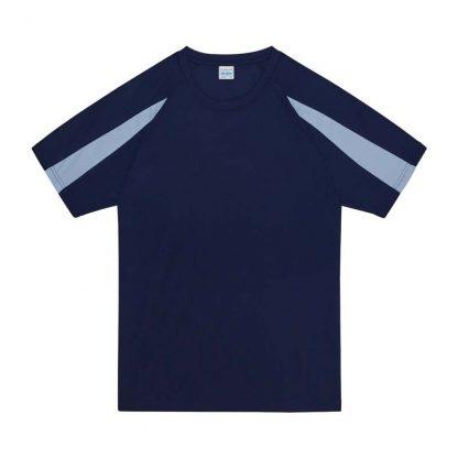 Contrast Cool T-Shirt - JC003-OXFORD-NAVY_SKY-BLUE-(FLAT)