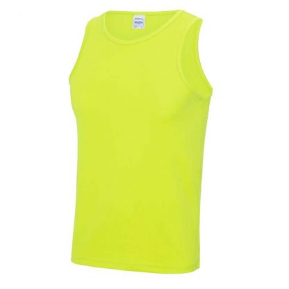 Polyester Cool Vest - JC007-ELECTRIC-YELLOW-(FRONT)